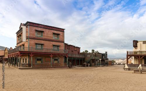 Leinwanddruck Bild Mini Hollywood Western Town Almeria Andalusia Spain