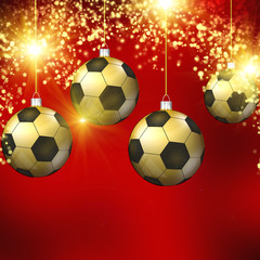 Soccer christmas hollyday background