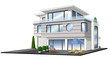 Einfamilienhaus mit Terrasse, Garage, isoliert