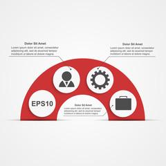 Modern infographic. Design elements. Vector illustration.