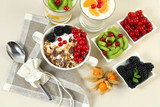 flakes and fruit