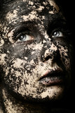 woman portrait dried skin concept