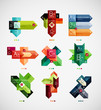 Colorful abstract option banner templates set