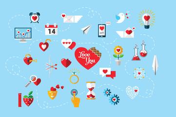 St. Valentine infographic
