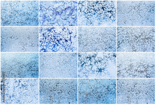 Tuinposter Antarctica 2 Frost pattern