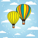 Vector background with air ballon