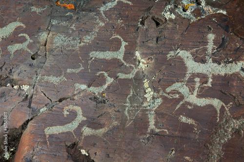 Leinwanddruck Bild Rock paintings