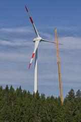 Aufbau eines Windrades © Matthias Buehner