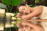 Fototapety young healthy girl relaxing in spa