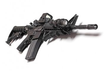 AR-15 carbine on white background