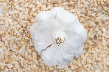 Rubbed Garlic (background image)