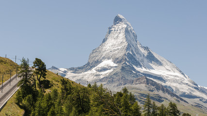 Zermatt, Schweizer Alpen, Matterhorn, Gornergrat, Sommer