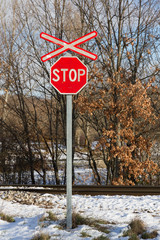 Stop at Railroad Crossing