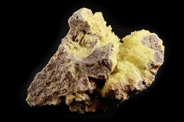 stone with sulfur deposition (from vulcanic active area)