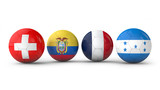 balls with flags