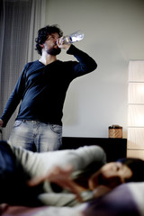 Woman desperate while husband is getting drunk