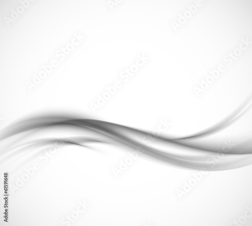 Abstract gray wavy background - 61591648
