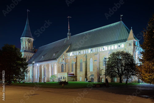 Koenigsberg Cathedral in the night, Russia