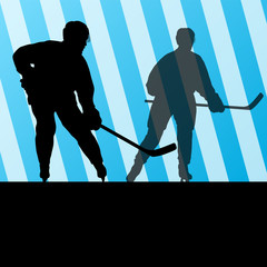 Ice hockey player silhouette sport abstract vector background co