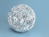 Silver Christmas filigrane decoration ball