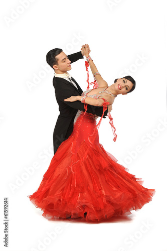 beautiful couple in the active ballroom dance - 61592614