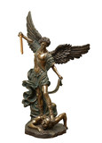 St Michael the archangel bronze statue
