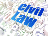 Law concept: Civil Law on alphabet background