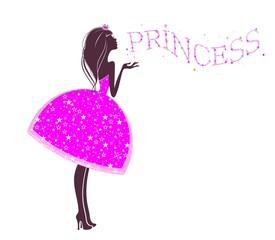 Принцесса в розовом платье