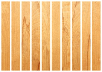 vertical wooden boards on white