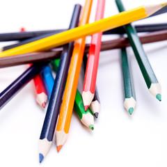 Buntstifte Bleistifte in verschiedenen Farben neu gespitzt