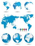 Fototapety 地球・世界地図セット