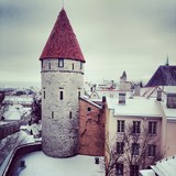 medieval tower in Tallinn old town, Estonia