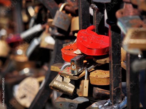 padlocks on the bridge