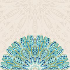Background With Half Round Patterns