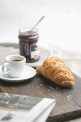 French breakfast in the morning light