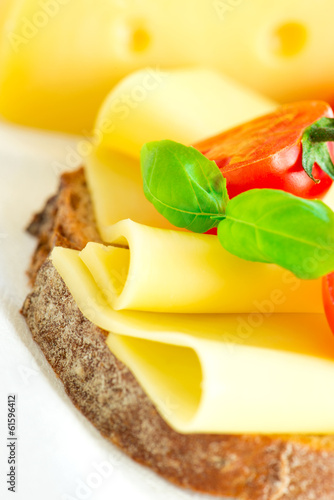 Sandwich with cheese macro
