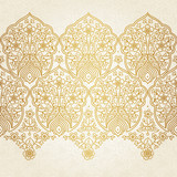 Vintage seamless border with lacy ornament. - 61596691
