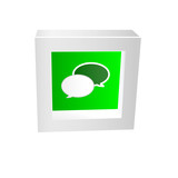 chat icon framed 3