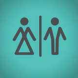 toilet icons, vector illustration