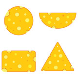 Cheese different shape