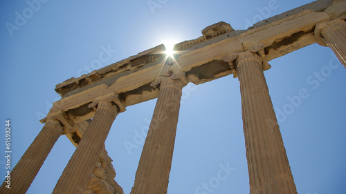 Athena, Acropole, Temple, Greece. At the Acropolis in Athens