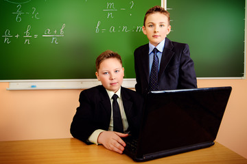 two schoolboys