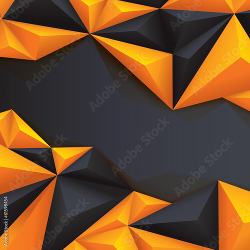 Black and yellow geometric background.