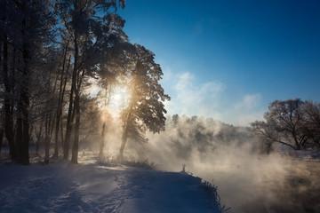 Зимний пейзаж. Winter landscape.