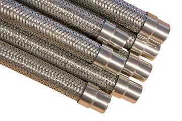 Metal hoses.