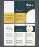 Trifold business brochure print template
