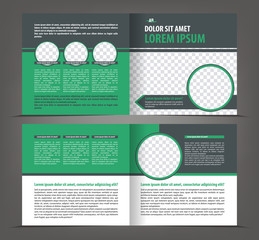 Vector empty brochure print template design