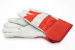 protective hardwork gloves on white background