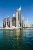 Modern buildings in Dubai Marina