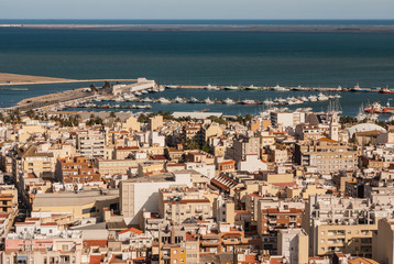View of the city  in Amposta, Delta del Ebro, Catalonia (Spain)
